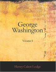 Cover of: George Washington, Volume I
