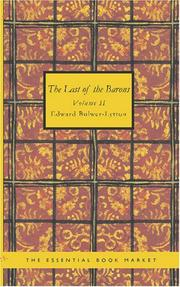 Cover of: The Last of the Barons Volume 2