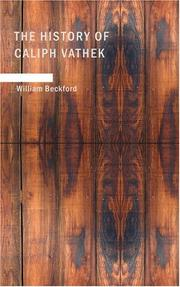 Cover of: The History of Caliph Vathek