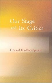 Cover of: Our Stage and Its Critics
