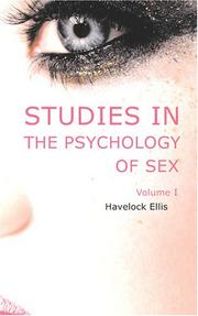Cover of: Studies in the Psychology of Sex, Volume 1