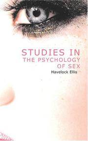 Cover of: Studies in the Psychology of Sex, Volume 3