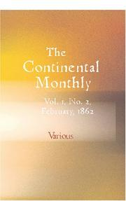 Cover of: The Continental Monthly