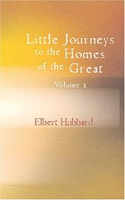 Cover of: Little Journeys to the Homes of the Great, Volume 02