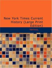 Cover of: New York Times, Current History (Large Print Edition) | Various