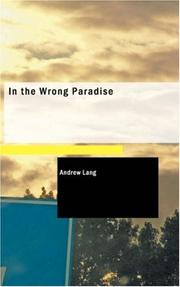 Cover of: In the Wrong Paradise: and other stories