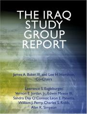 Cover of: The Iraq Study Group Report (Large Print Edition) | The Iraq Study Group, James A. Baker III, and Lee H. Hamilton