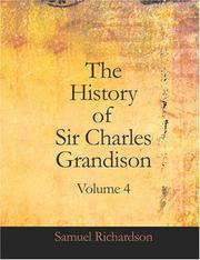 Cover of: The History of Sir Charles Grandison, Volume 4