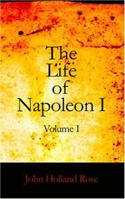 Cover of: The Life of Napoleon I Volume I