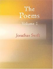 Cover of: The Poems of Jonathan Swift D.D. Volume 1 (Large Print Edition) | Jonathan Swift