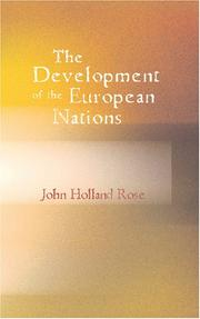 Cover of: The development of the European nations