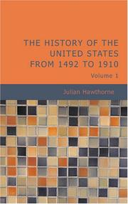 Cover of: The History of the United States from 1492 to 1910, Volume 1
