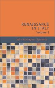 Cover of: Renaissance in Italy Volume I