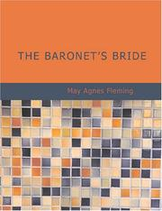 Cover of: The Baronet/s Bride (Large Print Edition) | May Agnes Fleming