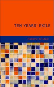 Cover of: Ten Years Exile