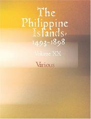 Cover of: The Philippine Islands 1493-1898 Volume XX 1621-1624 (Large Print Edition) | Various
