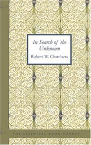 Cover of: In Search of the Unknown
