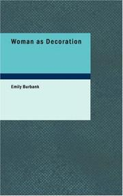Cover of: Woman as Decoration | Emily Burbank