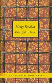 Cover of: Henry Brocken