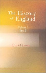 Cover of: The History of England Vol.I. Part B