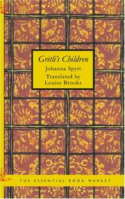 Cover of: Gritli's Children