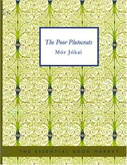Cover of: The Poor Plutocrats (Large Print Edition) | JГіkai, MГіr
