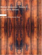 Cover of: Modern Eloquence Volume II (Large Print Edition) | Various
