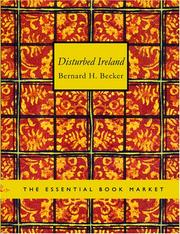 Cover of: Disturbed Ireland (Large Print Edition) | Bernard H. Becker