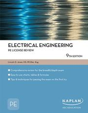 Cover of: Electrical Engineering PE License Review | Lincoln Jones
