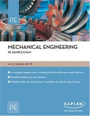 Cover of: Mechanical Engineering PE Sample Exam