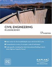 Cover of: Civil Engineering PE License Review