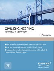 Cover of: Civil Engineering PE Problems & Solutions