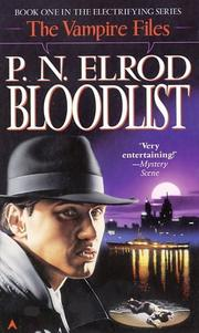 Cover of: Bloodlist (Vampire Files (Paperback))