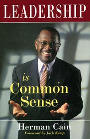 Cover of: Leadership is common sense