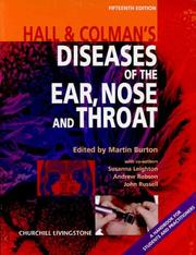 Cover of: Hall and Colman's Diseases of the Ear, Nose and Throat by Martin Burton