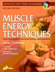 Cover of: Muscle Energy Techniques | Leon Chaitow