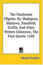 Cover of: The Passionate Pilgrim