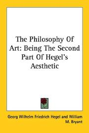 Cover of: The Philosophy Of Art