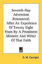 Cover of: Seventh-Day Adventism Renounced | D. M. Canright