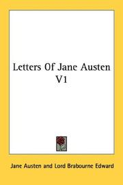Cover of: Letters Of Jane Austen V1