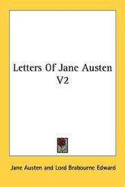 Cover of: Letters Of Jane Austen V2
