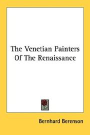 Cover of: The Venetian Painters Of The Renaissance