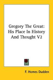 Cover of: Gregory The Great | F. Homes Dudden