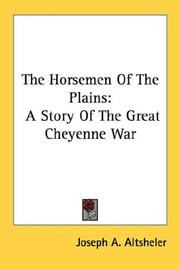 Cover of: The Horsemen Of The Plains