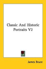 Cover of: Classic And Historic Portraits V2 | James Bruce