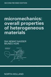 Cover of: Micromechanics | S. Nemat-Nasser