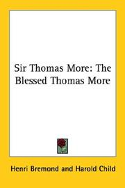 Cover of: Sir Thomas More