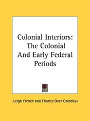 Cover of: Colonial Interiors | Leigh French