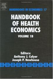 Cover of: Handbook of health economics