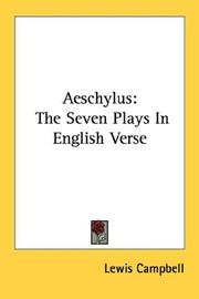 Cover of: Aeschylus: The Seven Plays In English Verse